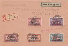 """Deutsches Reich Memel R Brief Flugpost 1922 (Bekannt Nur 800 Briefe """"Mit Luftpost Befödert"""" 18-10-1922) - Klaipeda"""