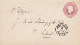 AD Baden Umschlag U10A 1863 - Baden