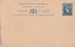 Ceylon Privat Postcard 1885 - Sri Lanka (Ceylon) (1948-...)