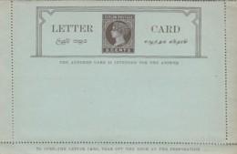 Ceylon Lettercard + Reply 1895 - Sri Lanka (Ceylon) (1948-...)