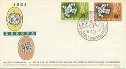 BELGIO - FDC EDITIONS RODAN 1961 - EUROPA UNITA - CEPT - SPECIAL CANCEL  GENT - 1961-70