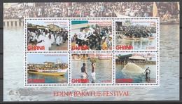 Ghana 2002 Mi# 3500-05+ Bl.446** EDINA BAKATUE FESTIVAL - Ghana (1957-...)