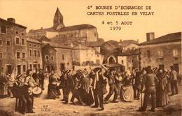 4e Bourse D'Echanges De Cartes Postales  En Velay, 1979 - Bourses & Salons De Collections