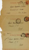 °°° Storia Postale 10 Cent. 3 Buste Preaffrancate °°° - Autres Collections