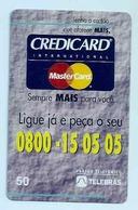 LSJP BRAZIL PHONECARD CREDICARD MASTERCARD - Brésil