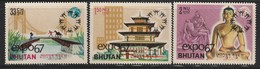 BHOUTAN - N°116/8  ** (1967) Exposition Internationale De Montréal - Bhutan