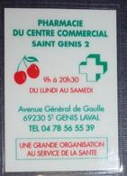 Petit Calendrier De Poche Plastifié 2008 Pharmacie St Genis - 1 Volet - Calendriers
