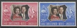 San Cristobal 270/271 ** MNH. 1972 - St.Kitts Y Nevis ( 1983-...)