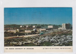 THE HEBREW UNIVERSITY OF JERUSALEM. PHALPHOT. ISRAEL. CIRCULEE A ARGENTINE 1960. TIMBRE AVEC SURTAXE NOIR- BLEUP - Israël