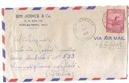HAITI - AIR MAIL COVER TO ITALY - STAMP - 1947 - Haiti