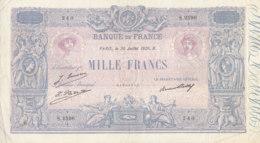 Billet 1000 F Bleu Et Rose Du 30-7-1926 FAY 36.43 Alph. S.2598 SANS Coupure - 1871-1952 Circulated During XXth
