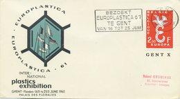 BELGIO - FDC  VERDE 1958  - EUROPA UNITA - CEPT - SPECIAL CANCEL EUROPLASTICA 61 - 1961-70
