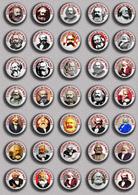 35 X Karl Marx 200 Years BADGE BUTTON PIN SET 3 (1inch/25mm Diameter) - Personnes Célèbres