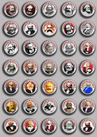 35 X Karl Marx 200 Years BADGE BUTTON PIN SET 3 (1inch/25mm Diameter) - Berühmte Personen