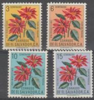 EL SALVADOR - 1960 Flowers. Scott 714-717. Mint - El Salvador