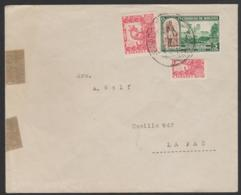 BOLIVIA - 1944 Cover With Bisect Posted To La Paz. Scott 261 - Bolivie