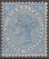 GIBRALTAR - 1898 2½d Queen Victoria. Scott 14. Mint (offset On Reverse) - Gibraltar