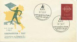 BELGIO - FDC  1959  - EUROPA UNITA - CEPT - SPECIAL CANCEL EUROPAFEESTEN - 1961-70