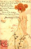 JEUNE FILLE MMWW Vienne Carte Circulée En Espagne 1906 Bel état Malgré Petites Taches - Kirchner, Raphael