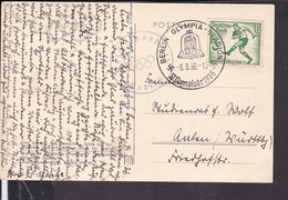 Sonderstempel Berlin Olympiade 1936 - Deutschland