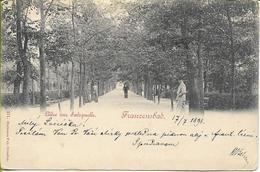FRANZENSBAB Allee Aus Salzquelle  - Carte Postée Le 17 Juillet 1898 - Tchéquie