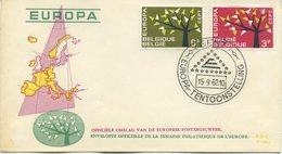 BELGIO - FDC  EDITIONS RODAN 1962 - EUROPA UNITA - CEPT - SPECIAL CANCEL GENT - 1961-70