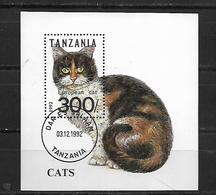 Tanzania 1992 Cats  Used - Tanzania (1964-...)