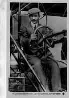 Locomotion Aerienne  -  Glen H.Curtiss Sur Son Biplan  -  Aviateur Americaine  -  CPA - Aviatori