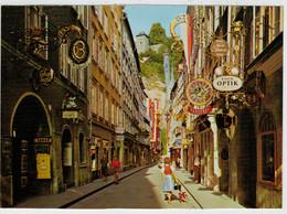 MALERISCHES  SALZBURG     GETREIDEGASSE  GEGEN  MONCHSBERG                      (NUOVA) - Salzburg Stadt
