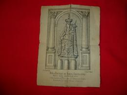 Santino Ritagliato Da Libro Effige Di Maria Santissima Della Sacra Montagna Di Novi 1889 - Images Religieuses