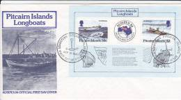 Pitcairn Islands 1984 Ausipex Souvenir Sheet FDC - Stamps