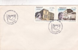AMERICA UPAEP. FDC 1998 PARAGUAY 2 DIFFERENT STAMPS - BLEUP - Paraguay