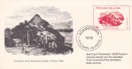 Pitcairn Islands 1979 Souvenir Postcard - Stamps