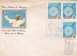 VISITA JUAN PABLO II AL PARAGUAY. FDC 1989. AUTRES MARQUES - BLEUP - Papas