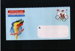 Cuba 1984 Olympic Games Los Angeles Aerogramme - Summer 1984: Los Angeles