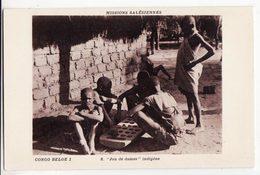CONGO BELGE   Missions Salésiennes    Jeu De Dames Indigène - Belgian Congo - Other