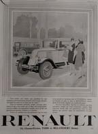 Affiche Publicité RENAULT 1929  René VINCENT , Illustrateur. - Werbung