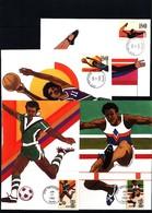 USA 1983 Olympic Games Los Angeles 4x Maximumcards With San Antonio Postmark - Summer 1984: Los Angeles