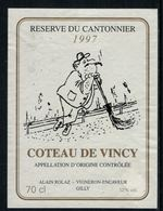 Rare // Etiquette De Vin // Autres // Coteau De Vincy, Réserve Du Cantonnier - Etiquettes