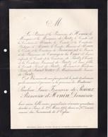 PARIS Pauline De PISIEUX Princesse D'HENIN Famille De PARTZ 74 Ans 1887 - Décès