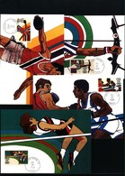 USA 1983 Olympic Games Los Angeles  4x Maximumcards With South Bend Postmark - Summer 1984: Los Angeles