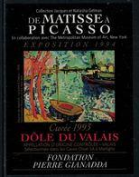 Rare // Etiquette De Vin // Art-Peinture-Tableau // Dôle, De Matisse à Picasso, Fondation Gianadda - Art