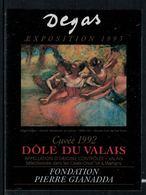 Rare // Etiquette De Vin // Art-Peinture-Tableau // Dôle, Degas, Fondation Gianadda - Art