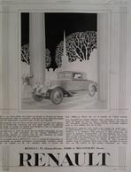 Affiche Publicité RENAULT 1929  René VINCENT , Illustrateur. - Publicités