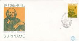 SIR ROWLAND HILL. FDC 1979 SURINAME. MAXIMUM ENVELOPE - BLEUP - Suriname