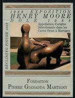 Rare // Etiquette De Vin // Art-Peinture-Tableau-sculpture // Dôle, Henry Moore, Fondation Gianadda - Art
