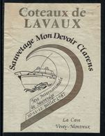 """Rare // Etiquette De Vin // Bateaux // Lavaux, Sauvetage """"Mon Devoir"""" Clarens - Etiquettes"""