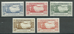 Dahomey Poste Aérienne YT N°1/5 Neuf/charnière * - Unused Stamps