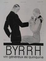 Affiche Publicité BYRRH 1929  René VINCENT , Illustrateur. - Publicités