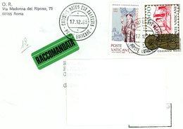 °°° Raccomandata  Vaticano°°° - Lettres & Documents